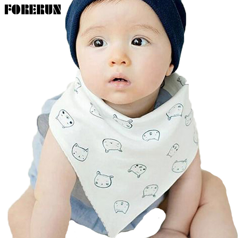2016 New Button Style Baby Bandana Bibs Cartoon Piggy Animal Bibs Both Sides Cotton 100% Scarf Boys Bibs Burp Cloths Moms Care