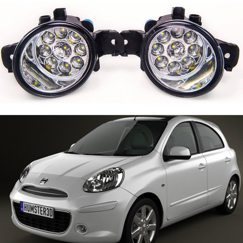 For NISSAN MICRA 4  K13  2010-2015 Car styling High brightness LED fog lights DRL lights 1SET великие реки кубань 7
