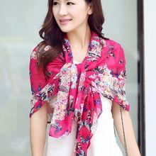 30 styles Summer beach care fashion silk girl women scarf shawl long wrap scaves