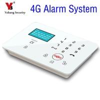 Yobang безопасности беспроводной 4G SMS Автодозвон ЖК дисплей сенсорный дом охранной сигнализации системы SOS Дым пожарный сенсор сигнализации к