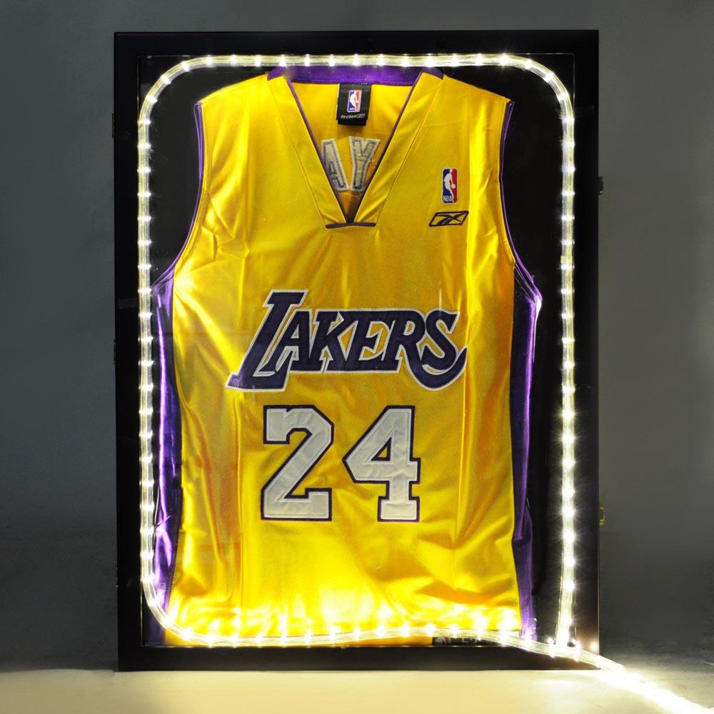 Baloncesto béisbol fútbol Jersey vitrina de madera UV marco caja de ...