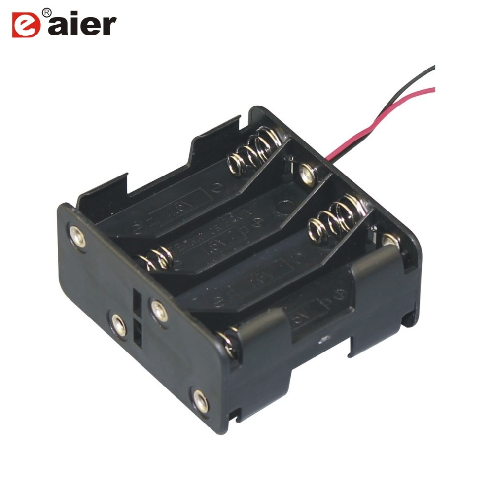 20PCS 12V Cell Plastic Battery Holder 8 AA Battery Cell Single Battery Case With Wires Replace CR1025 Back To Back Type