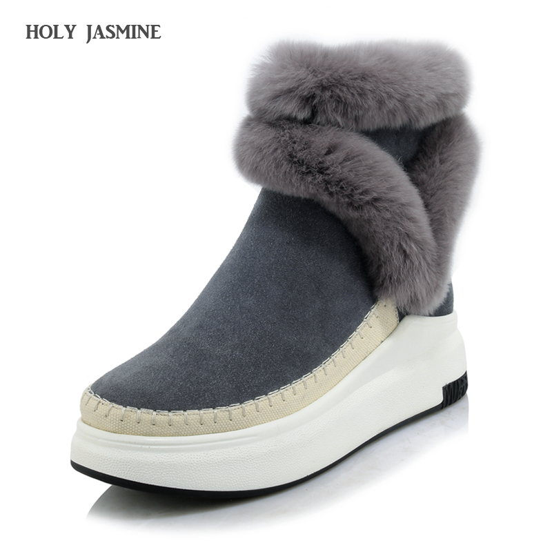 20017 New Winter Female Plus Velvet Swing Shoes Snow Platform Boots Women Flat with Thermal Cotton