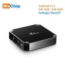 Новые X96 Мини Android TV Box 1 г + 8 г/2 г + 16 г Amlogic S905W 4 ядра Поддержка H.265 4 К media player 2.4 г Wi-Fi x96 мини Декодер каналов кабельного телевидения