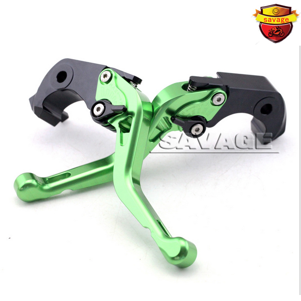 ФОТО Motorcycle CNC Billet Aluminum Short Brake Clutch Levers For KAWASAKI ZX14R ZX-14R ZZR1400 GTR1400 2006-2015 Green