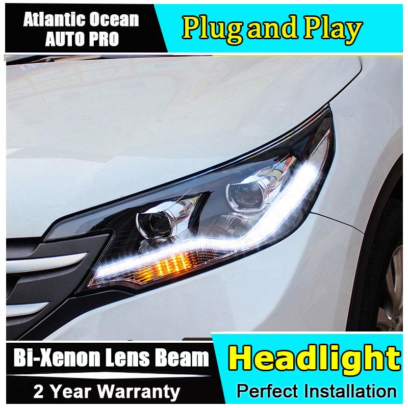 Nouveau phare de voiture design pour Honda CRV phares 2012-2014 pour Honda CRV bi-xénon Double lentille HID KIT h7 phares xénon