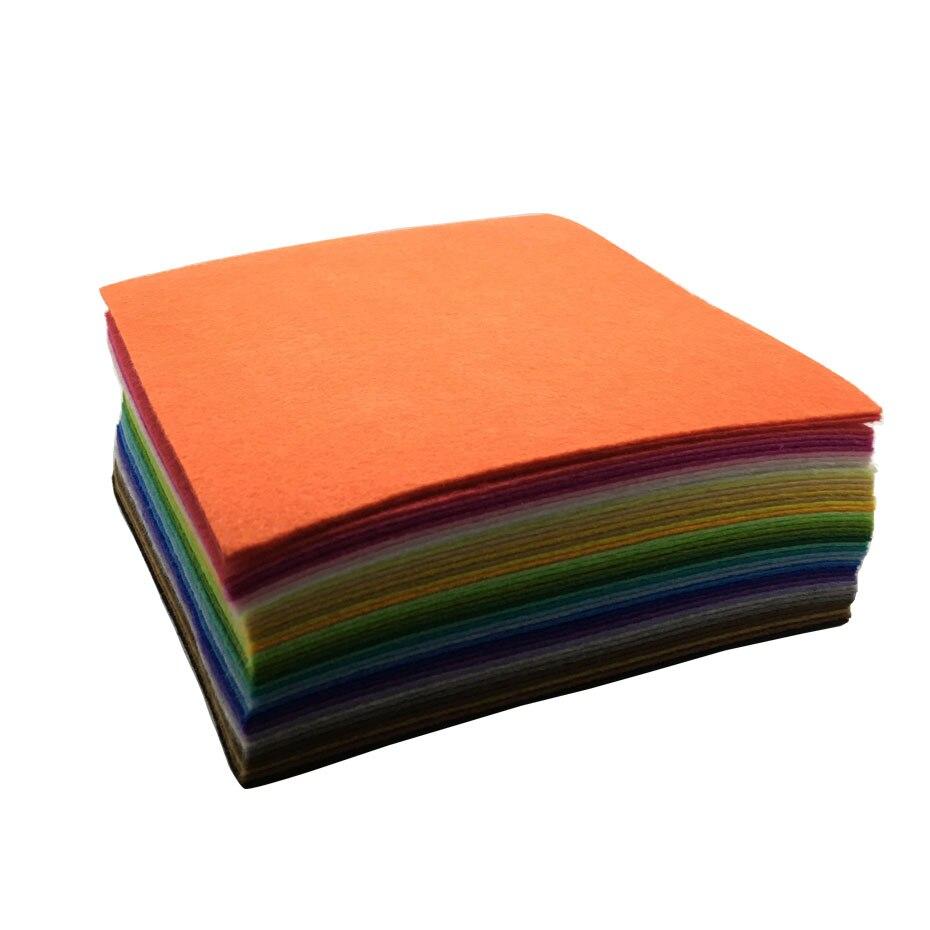 15 * 15CM 30 * 30CM 40PCS Blandade färger Nov Woven Filt Fabric Filt - Konst, hantverk och sömnad - Foto 2