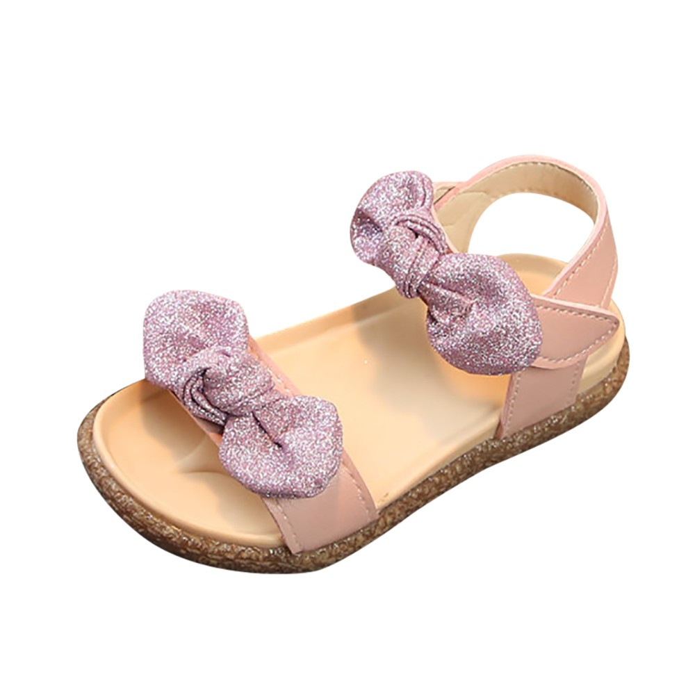 ARLONEET Baby Roman Sandals Girl Bling Bowknot Non-Slip Princess Sandals Casual Shoes Girls 1 to 6 Years Drop Shipping 30S58