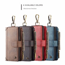 Luxury Multifunction Shockproof Wallet Leather case 2 in 1 Magnetic Flip Cover Skin For iPhone 6 6s 7 8 Plus X S8 S9 Plus Note 8 detachable 2 in 1 magnetic absorbed oil buffed leather wallet case for iphone 6 plus 6s plus red