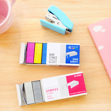 No.10/12 Cute Silver Colorful Stainless Steel Staples Office Binding Supplies For School Students Stationery Gift Papeleria