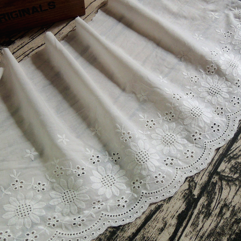Skirt Humble 3 Yards / Customized Cotton Lace Accessories Tablecloth Lace Trim Diy Width 27cm Ys0228 Handmade Cloth Curtain Sofa