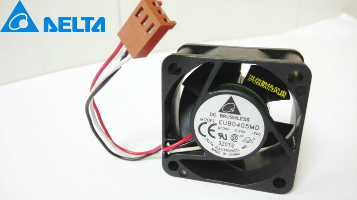 Free shipping 4020 EUB0405MD -FOO DC5V 0.24A Delta 4CM switch server silent fan
