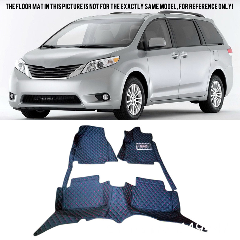 For Toyota Sienna XL30 2011-2016 (the 2rd rows have 2 seats) Custom Waterproof Car Styling Car Floor Mats Cover