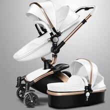 AULON Baby Stroller  360 rotate pram 0~36 months golden frame baby car 2 in 1 baby stroller