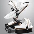 AULON pram carrinho de Bebê Carrinho De Criança 360 rotate 0 ~ 36 meses de ouro quadro de carro do bebê 2 em 1 carrinho de bebê
