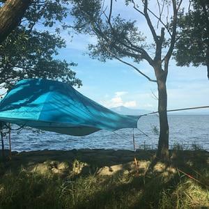 Image 5 - خيمة تخييم من SKYSURF مزودة بشجرة من 3 إلى 4 أشخاص خفيفة محمولة للتخييم على شكل مثلث خيمة معلقة للتخييم على الشاطئ أرجوحة للتخييم