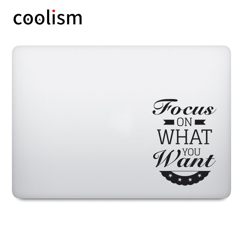 Focus on What You Want Quote Laptop Decal for font b Apple b font font b