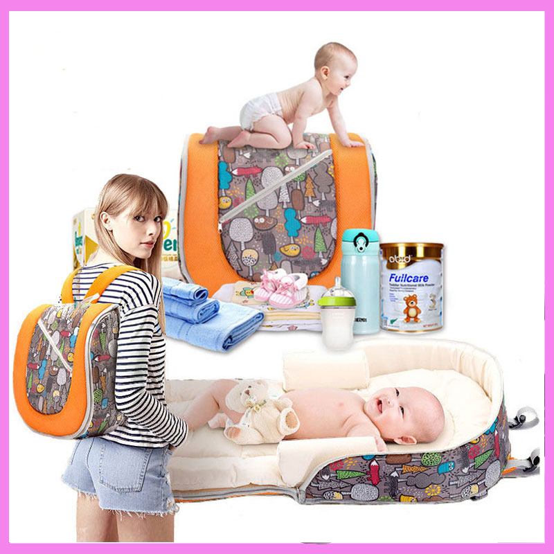 Large Capacity Multifunctional Portable Travel Diaper Mummy Backpack Baby Sleeping Bag Stroller Accessory Storage Organizer fashion mummy bag travel baby diaper bag large capacity multifunctional baby diaper backpack red
