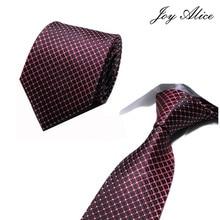 Новинка, классические клетчатые мужские роскошные шёлковые мужские галстуки, клетчатые официальные деловые Свадебные британские клетчатые Галстуки 8 см