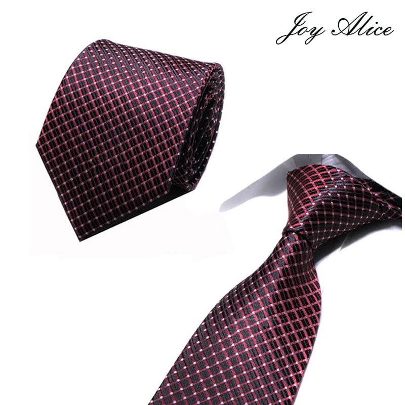 2018 New Classic Plaid Mens Luxury Silk Men Ties Checked Plaid Formal Business Wedding British Plaid Cravatte Seta 8 Cm Necktie