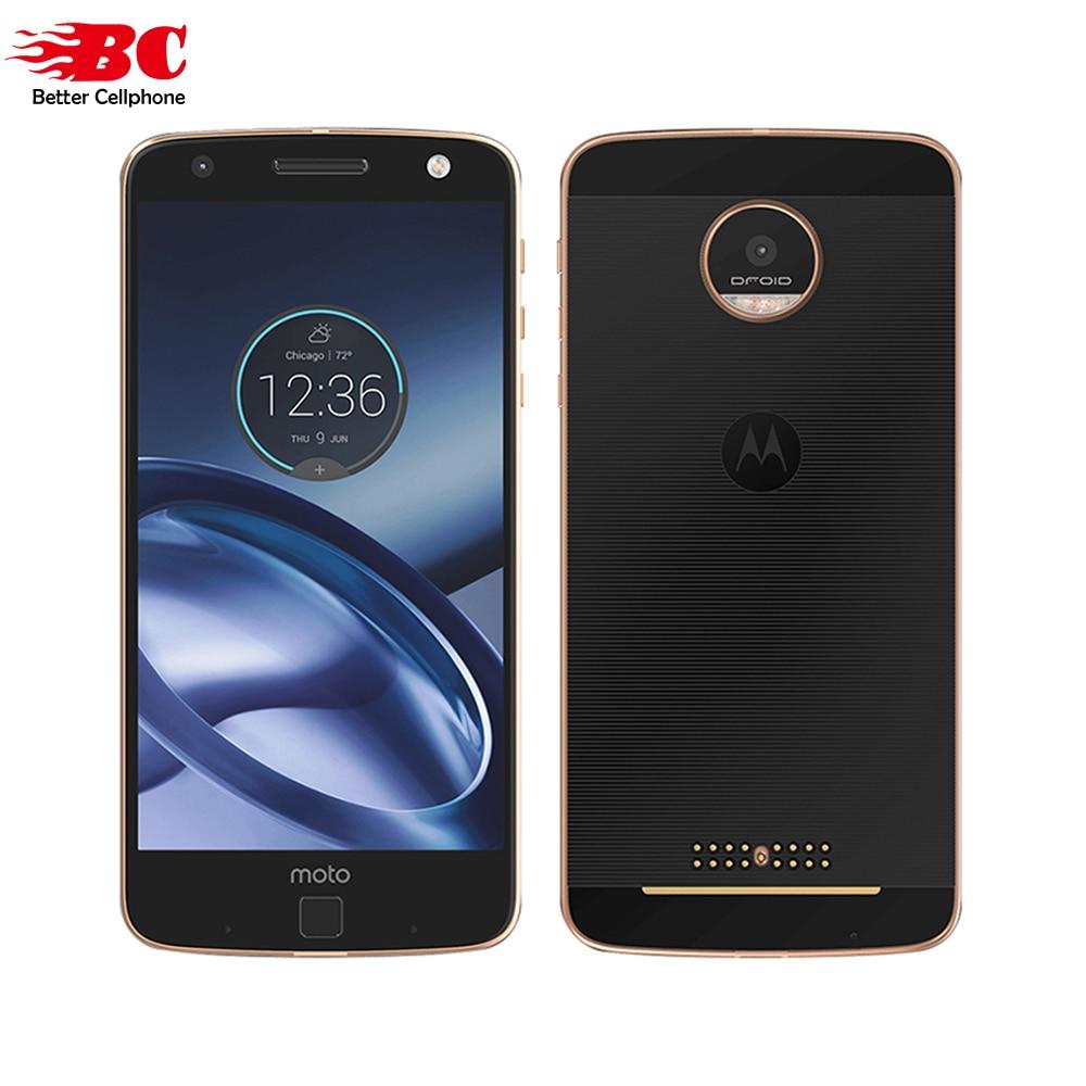 Originale Motorola moto Z XT1650-05 di impronte digitali Snapdragon 820 Quad Core Android 6.0 HD 2 k 5.5 pollice 4 gb di RAM 64 gb di ROM Per Smartphone