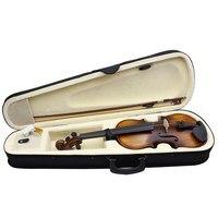 ammoon AV 508 Acoustic Violin Fiddle Kit Solid Wood Matte Finish Spruce Face Board 4 String Instrument 4/4 Full Size vlolin