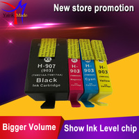 4 Pack Compatible For HP 903XL 907xl Ink Cartridges 903 907 XL For HP903 OfficeJet 6950
