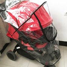 Дождевик для детской коляски, Универсальный водонепроницаемый дождевик, защита от ветра и пыли, Практичный чехол для коляски, аксессуары для детской коляски