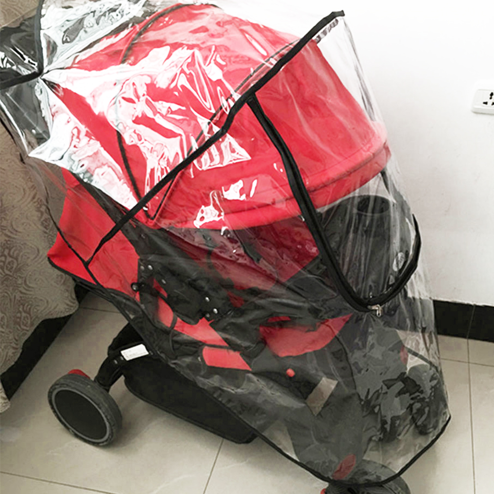 Baby Stroller Raincoat Universal Waterproof Rain Cover Wind Dust Shield Practical Pushchair Cover Baby Stroller Accessories stroller rain cover waterproof cover universal twins baby stroller rain cover windproof baby carriage stroller accessories