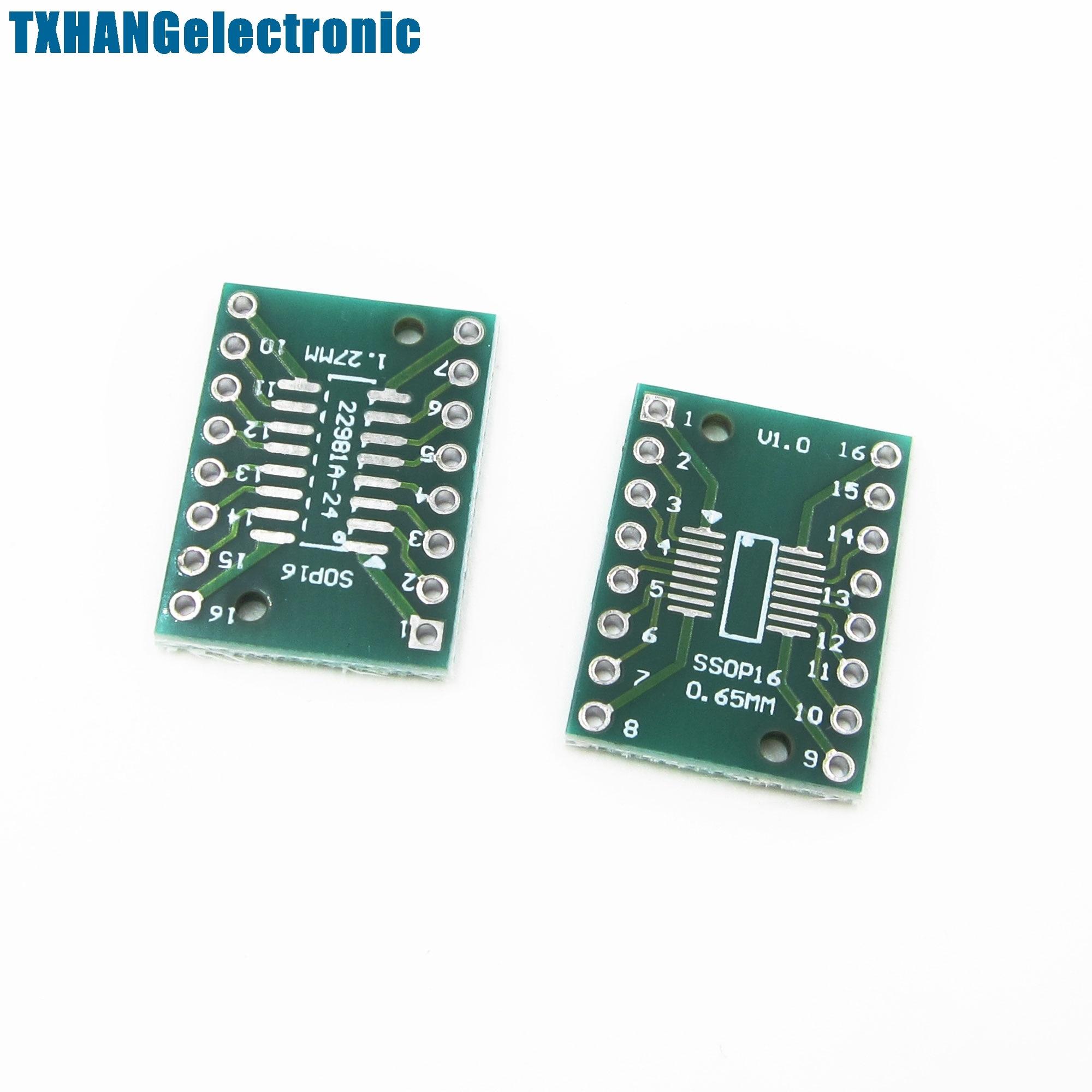 10PCS SOP16 SSOP16 TSSOP16 To DIP16 0.65//1.27mm IC Adapter PCB Board FO