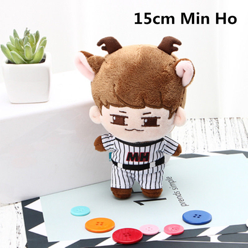 SGDOLL Fashion Korea KPOP Shinee Plush SHINee Min Ho Animal Doll With Clothes Cute Toy Gift New 15cm/6 inch Fans автокресло babyhit бежевый sider lb510