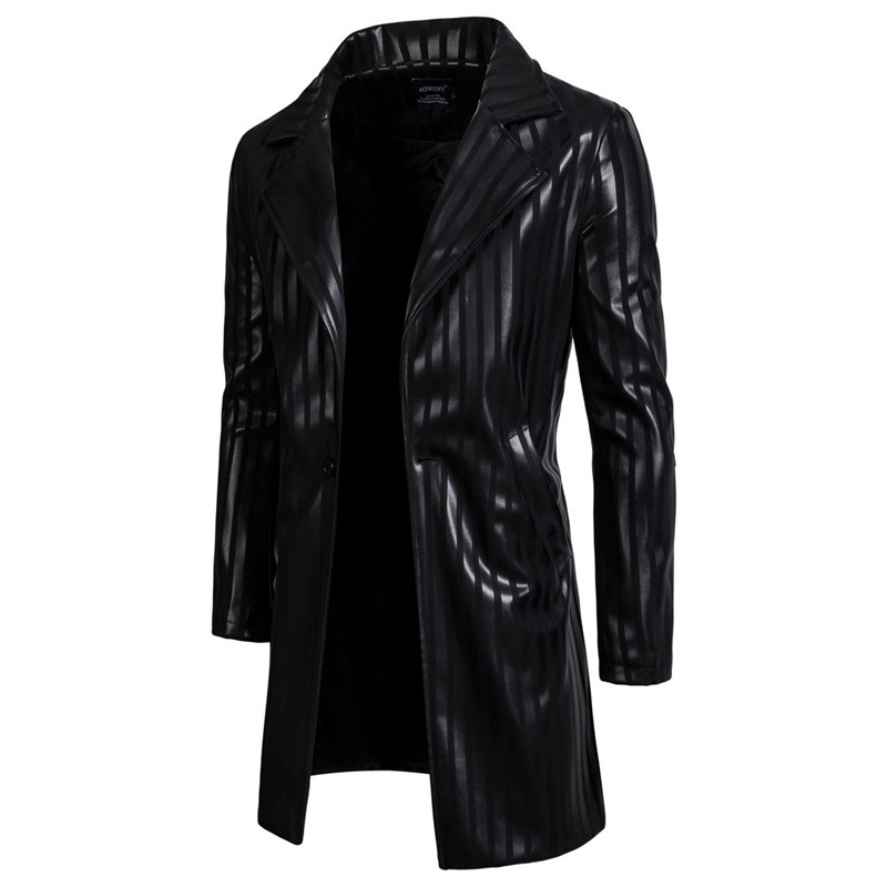 long leather blazer men 02