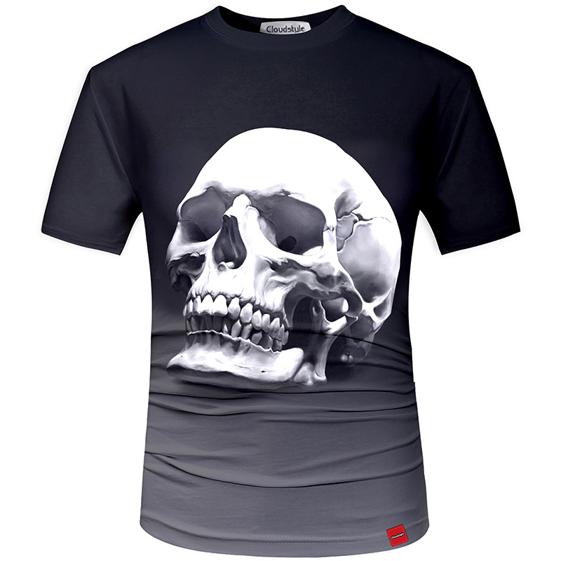 HTB15GWASFXXXXckaXXXq6xXFXXXu - Men's New Fashion 2018 - Quality 3D Skull Print Design Stylish Casual T-Shirt
