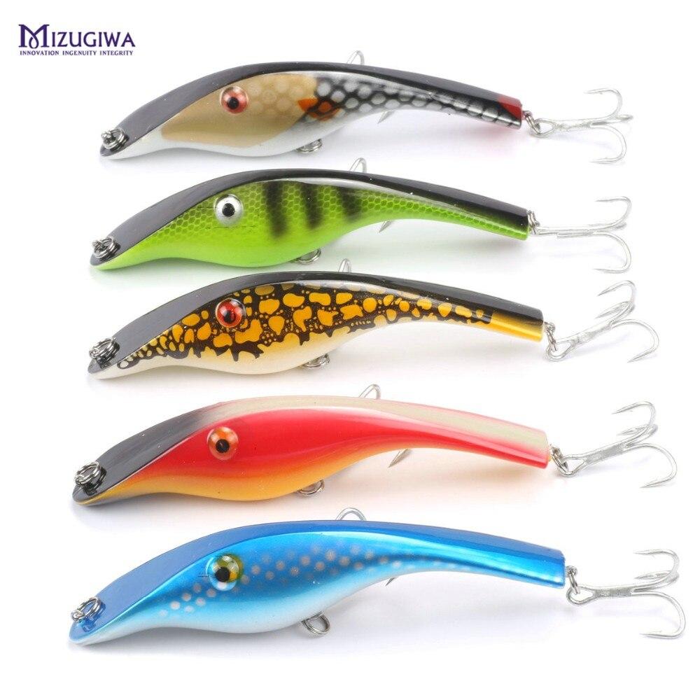 MIZUGIWA Zalt Undberg Stalker Jerkbait Musky Muskie Pike Bass Fishing Lure Bait Wobbler Isca Artificial Isca 3D Eyes Leurre serok ikan