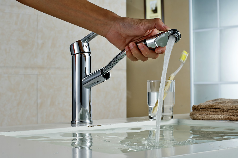 2015 New SIngle Handle Pull out Kitchen Faucet Brass Robinet Kitchen Water Tap Mixer