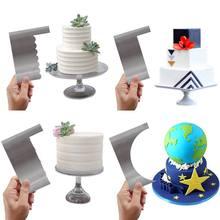 Моделирование украшения торта гребень глазурь Гладкий торт скребок кондитерские изделия 6 дизайн текстуры выпечки инструменты VIP для торта инструмент Прямая поставка