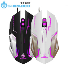 SHIPADOO RF3 Ergonomic Mouse Gamer Wired Optical Gaming Mice 6 Buttons 1600 DPI for PC Computer/ Laptop/ Desktop/ Notebook