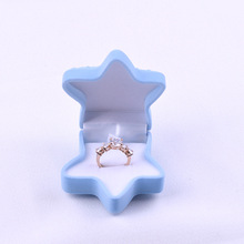 цены Star Shape Velvet Jewelry Ring Box Earring Ear Stud Jewelry Case Container Jewelry Packaging & Display