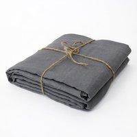 Натуральный серый французский из стираного льна листов покрывало белье установлены лист один постельным бельем Рождество 137x188x38 см