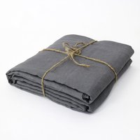 Natural Gray French Washed Linen Sheets Bed Cover Linen Fitted Sheet Single Fitted Sheets Christmas 137x188x38cm