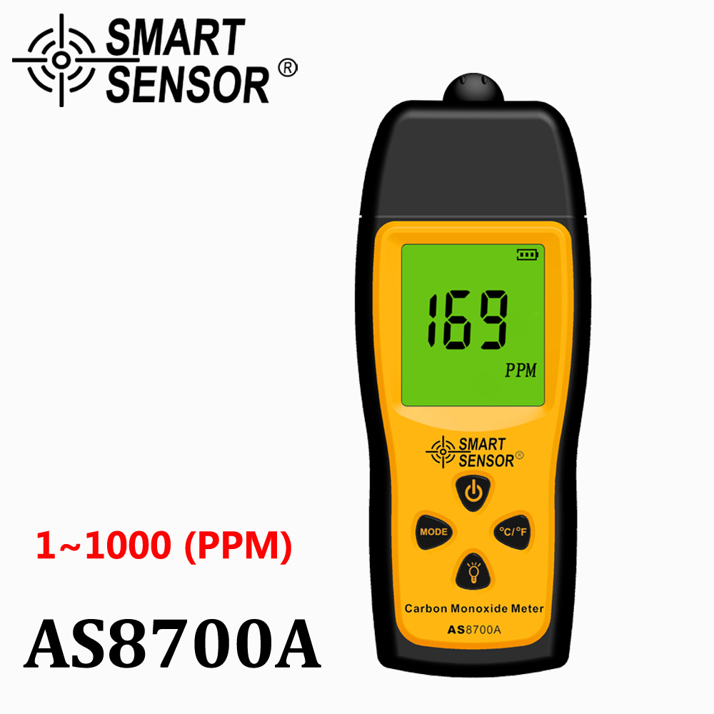 Handheld Carbon Monoxide Meter Portable CO Gas leak Detector Gas Analyzer High Precision detector de gas Monitor tester 1000ppm