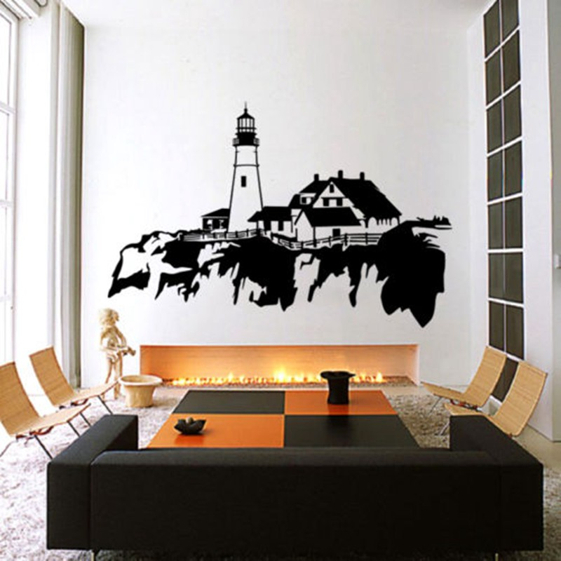 popular lighthouse wall decals buy cheap lighthouse wall lighthouse wall decal sticker vinyl decor mural bedroom