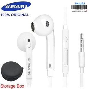 Image 1 - Oryginalny Samsung EG920 słuchawki douszne z głośnik sterowania przewodowy 3.5mm zestawy słuchawkowe z mikrofonem 1.2 m słuchawki douszne słuchawki sportowe