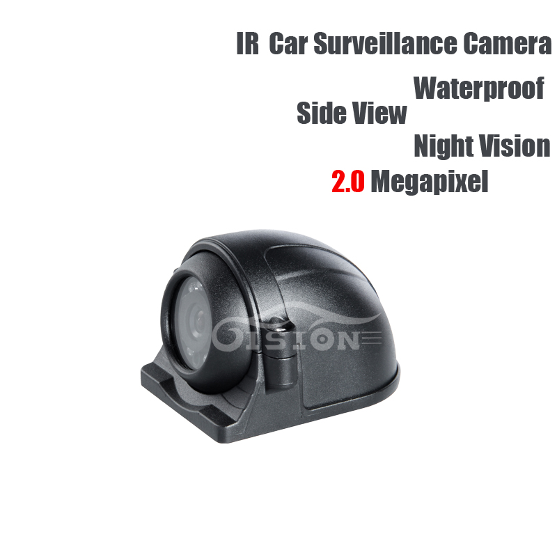 AHD 2.0MP Side View Camera Left/right Waterproof IR Night Vision CCD Camera for Vehicle Lorry Vans Taxi Bus Truck Surveillance ahd 1 0mp dual cam ir night vision waterproof rear view parking backup reversing camera for vehicle truck bus vans surveillance