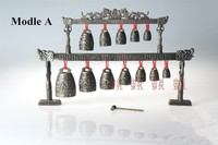 Decoration Copper Silver Factory Outlets Copper Dragon Bell Chimes China Ancient Musical Instruments Bronze Bells