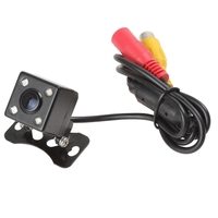 Universal Waterproof CCD HD 4 LED Night Vision Car Rear View BackUp Reverse 170 Degrees Parking