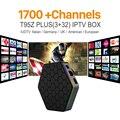 Núcleo octa Android Árabe IPTV BOX T95ZPLUS Frete 1700 Europa Árabe Canais de IPTV S912 3 GB/32 GB TV Box WIFI H265 KODI Media Player