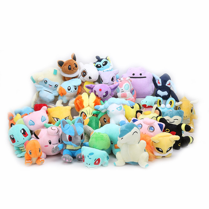 11-18cm eevee Plush Toys Squirtle Bulbasaur snorlax Jigglypuff Dragonite Charmander Lapras Lugia Clefairy stuffed plush Dolls stuffed toy