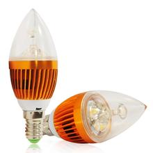 1Piece E14 Candle Lamp 3 LED Bulb 9 W LED Lamp Warm White Light 2700-3500K 60 Degree Angle Lampada 900LM Night Lighting 85-285V
