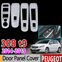 for Peugeot 308 ii t9 2014 - 2018 Chrome Trim Set Window Switch Panel Cover 308sw 308GT GTI Car Accessories Stickers 2015 2016(China)